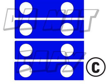 Jeep Hinge Accents Decal (available in a variety of colors)