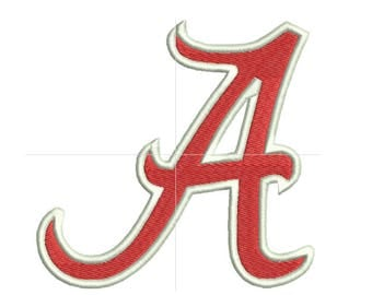 Alabama embroidery design, University of Alabama logo, machine embroidery designs, instant download, 7 sizes, embroidery designs