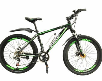 26'' Flying Hardtail Mountain Bikes Bicycles Shimano 21 Speeds Alloy Frame