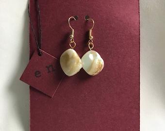 Pearlescent shell Dangle Earrings