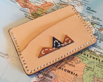The 'Mountain Range' Slim Leather Card Wallet