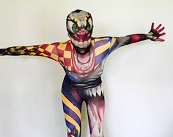 Scary Clown Halloween Zentai Suit