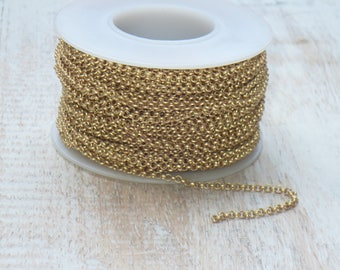 2mm Rolo Chain in Matte Gold