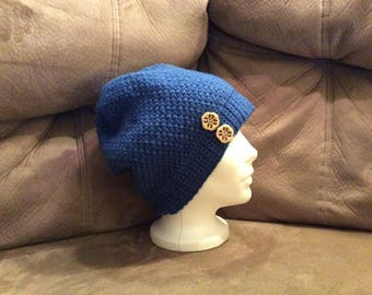 Blue Slouchy Hat