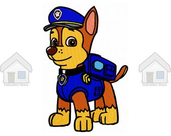 """Blue Military Puppy Fully Embroidery Design 4 sizes """"Instant download"""""""