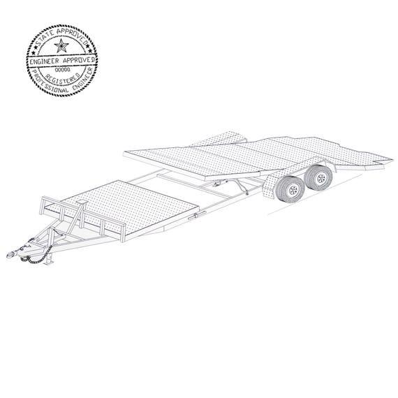 24 gravity tilt car hauler trailer plans blueprints model description malvernweather Choice Image