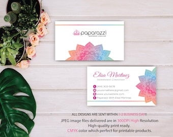 Paparazzi Business Card, Mandala business card, Custom Paparazzi Accessories Card, Fast Free Personalization, Printable Business Card PP86