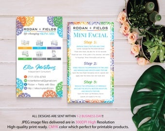Rodan and Fields Mini Facial Card, Rodan and Fields Business Card, Intensive Renewing Serum, PERSONALIZED Rodan Fields, Digital files RF09