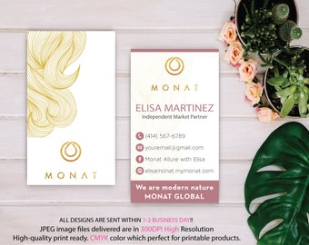 Monat Business Card Custom, Custom Monat Business Card, Fast Free Personalization, Custom Monat Hair Care Card, Printable Business Card MN64