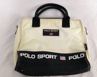 Vintage white polo sport bag