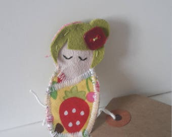 geisha doll badge