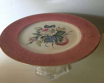 Pink Antique Cake Stand