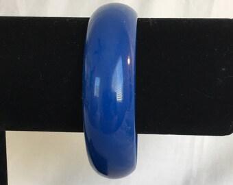 Navy Blue Plastic Vintage Bangle Bracelet