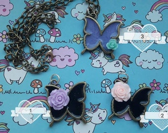 """Necklace """"Butterfly Rose"""""""