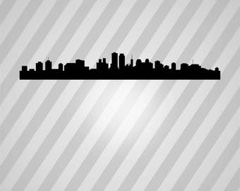 new orleans skyline Silhouette - Svg Dxf Eps Silhouette Rld RDWorks Pdf Png AI Files Digital Cut Vector File Svg File Cricut Laser Cut