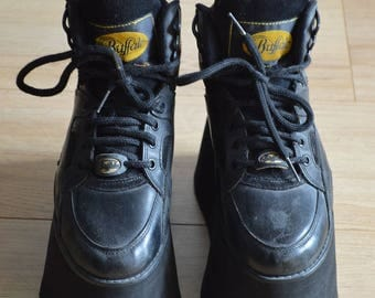 BUFFALO Platforms shoes very RARE 90s clubkid gothic size 38/5/7.5
