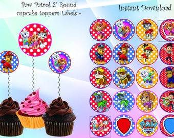 paw patrol cucakes toppers, Paw patrol birthday,, paw patrol Party Printable,paw patrol, INSTANT DOWNLOAD,