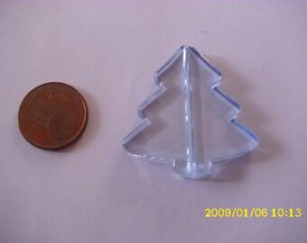 1 Pearl Christmas 3.9X4.1cm 1.9 hole sky blue tree mm