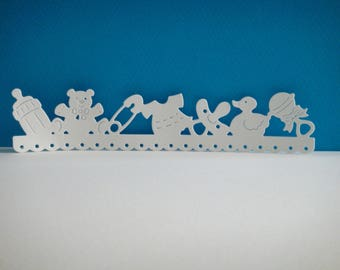 Cutting edge baby white foam for scrapbooking and card