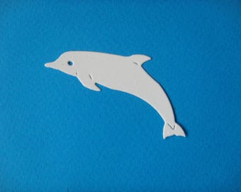 Cut Dolphin for creating white drawing paper