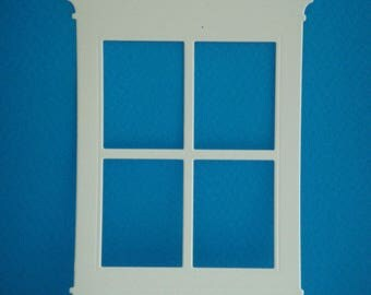 Great cutout window white design for scrapbooking and card paper