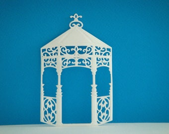 Cutout stand white foam for creation