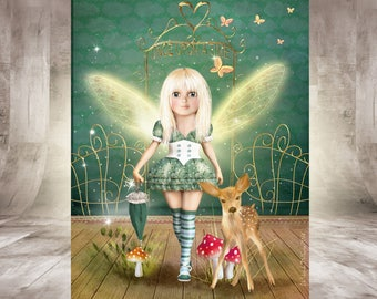 Fantastic fantasy, Gothic, two possible prints, poster a4 size