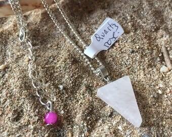 spirit sand stone geometric necklace / Moon