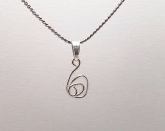 Silver chain with spiral pendant necklace