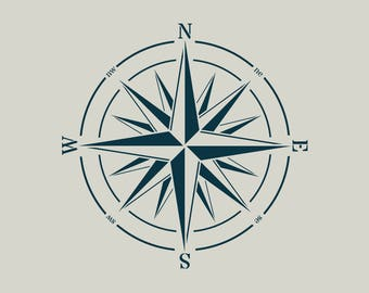 Stencil adhesive vinyl (ref 687) compass rose
