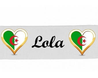 White girl Algeria personalized with name banner