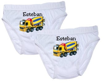 Boys truck personalized with name top pants