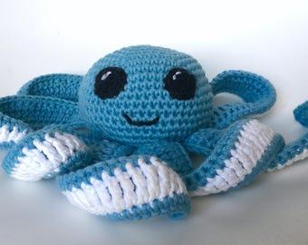 Blue Octopus crochet octopus crochet amigurumi toy, toy