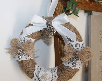 Mini wreath is decorated and scented