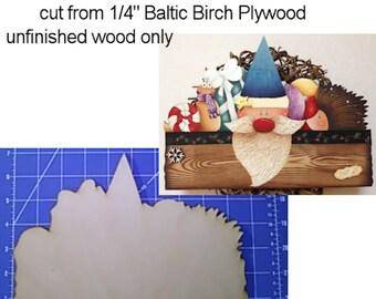 Xmas Pals wood cutout to paint - design by Marika Moretti