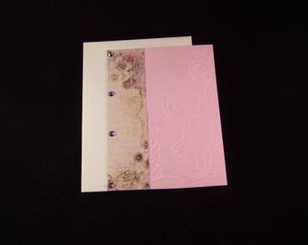 Handmade card and envelope