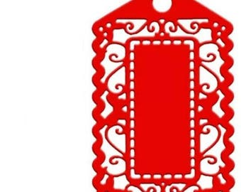 Cut lace tag scrapbooking