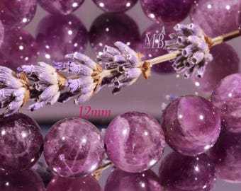 Amethyst purple /prune diameter 12mm 10 beads