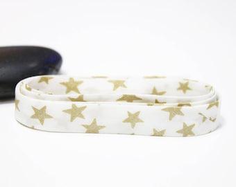 Liberty Lawn polka stars gold gilded