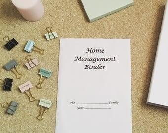 Elegant Minimalist Home Management Binder