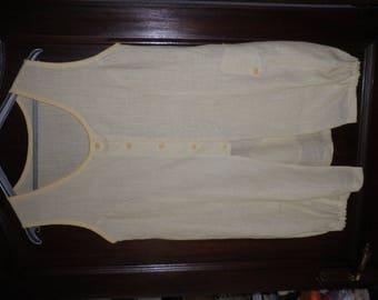 Tunic woman yellow straw linen 40.42 size.