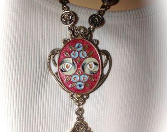 Necklace vintage art nouveau spirit creator
