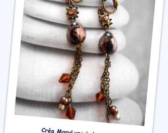 Earrings clips for non-pierced bronze