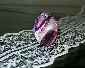 1 beautiful chic handmade glass cabochon ring
