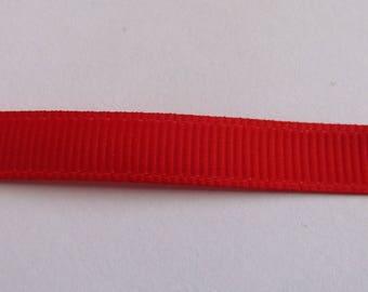 Ribbon grosgrain Red 10mm wide