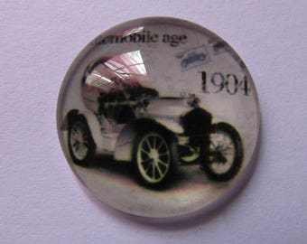 cabochon glass 25mm theme retro vehicle