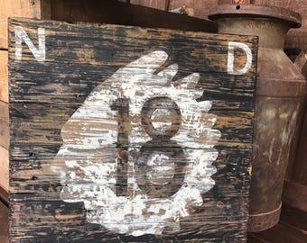 Vintage Road Sign #indian #north dakota #route 18