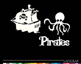 boat scrapbooking cuts Word pirate Octopus animal cut paper embellishment die cut creation