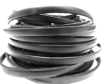 20 cm wide 5 mm black leather strap