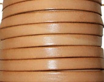 20 cm Strip natural 10 mm flat leather